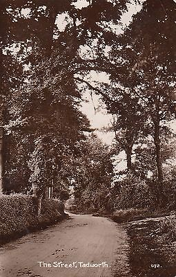 The Street, Tadworth, Surrey, Real photo, old postcard, posted 1914