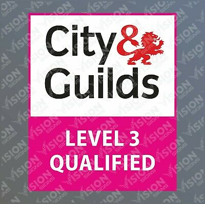 City & And Guilds Level 3 Qualified Vinyl Van Sticker Decal Carpenter Joiner