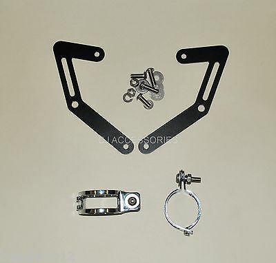 MT-03 Motorcycle Fork Mounted Headlight Brackets 43-46mm Clamps Streetfighter