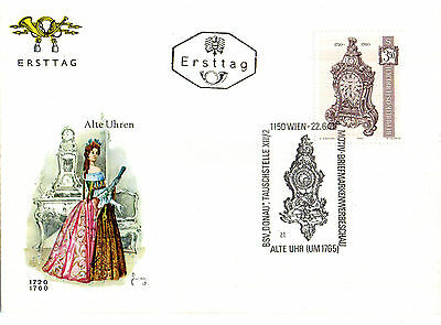 Austria 22 June 1970 Clock S3.50 First Day Cover Shs