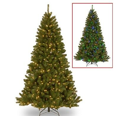 7.5 Foot Prelit Fake North Valley Spruce 550 Multicolored Lights National Tree
