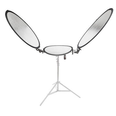Reversible Silver/Gold Tri-Reflector Studio Reflect Light Control Durable Strong