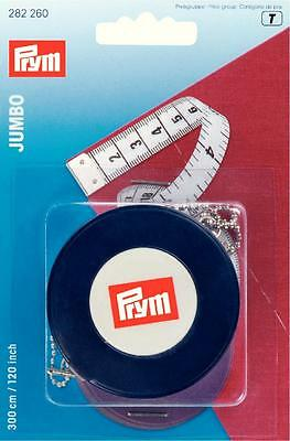 "Prym Jumbo Spring Tape Measure 300cm 120""  282260"