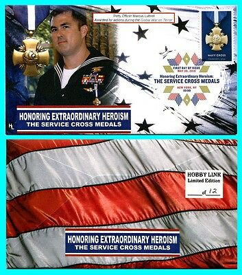 Navy Cross Petty Officer Marcus Luttrell First Day Cover with Color Cancel