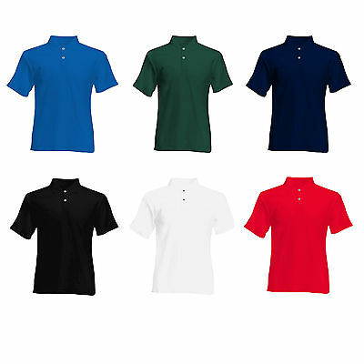 2x FRUIT OF THE LOOM POLO SHIRTS S - XXL ORIGINAL