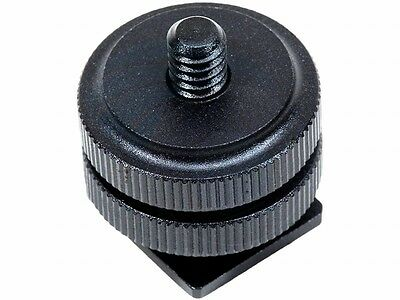 Universal Hot Shoe 1/4-20 Threaded Adapter for Mounting LCD Monitors