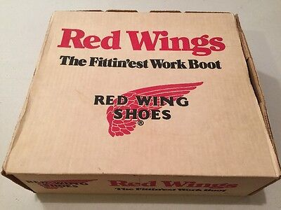 Vintage Red Wing Shoes Advertising Fittin'est Work Boots Pecos Usa Made Box Only