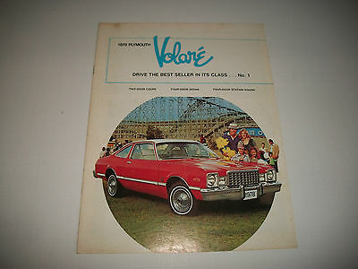 1978 Plymouth Volare  Canadian. Sales Brochure Catalog  Clean Cmystore4More