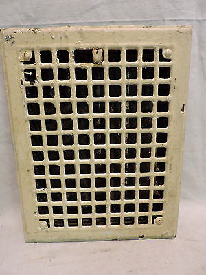 Vintage 1920S Iron Heating Grate Rectangular 14 X 11  H