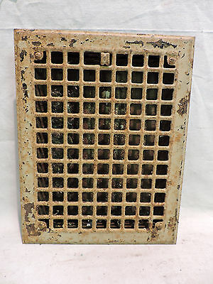 Vintage 1920S Iron Heating Grate Rectangular 14 X 11  I