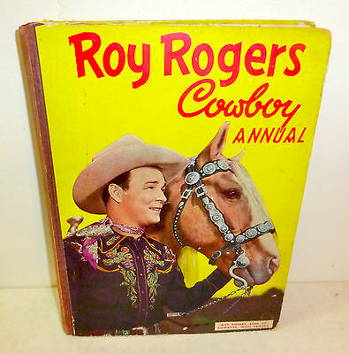 """Roy Rogers Cowboy Annual"" 1952 book with comics from UK"