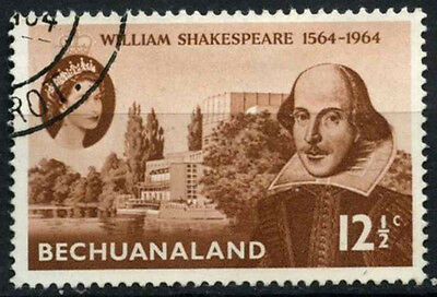Bechuanaland Protectorate 1964 SG#185 William Shakespeare Used #D43259