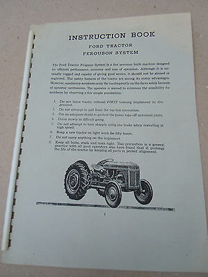 @Ford Tractor Ferguson System Instruction Book-Copy @
