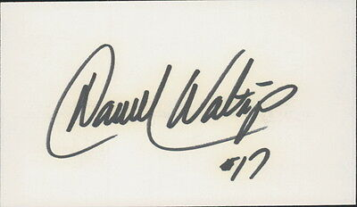 DARRELL WALTRIP - AUTOGRAPHED INDEX CARD NASCAR DRIVER w/ ICEBOX LOA