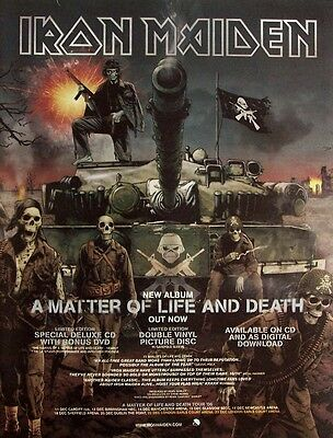 IRON MAIDEN 2006 poster type Advert MATTER OF LIFE AND DEATH