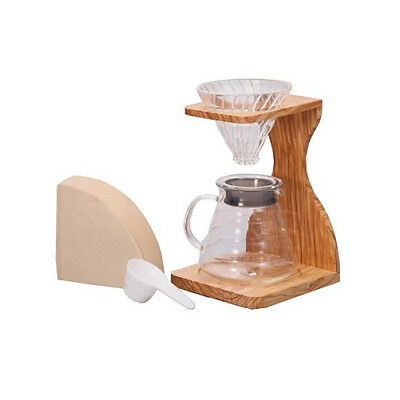 NEW Hario V60 Pour Over Set - Olive Wood Coffee