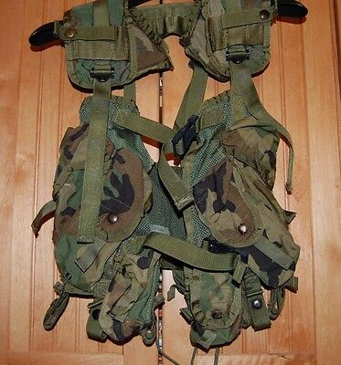 US Army Enhanced Tactical Load Bearing Vest Woodland Camo #8415012968878 (F37)