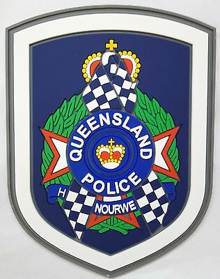 Queensland Police Blue Ribbon rubber patch Not Police Emergency Rescue Ambulance