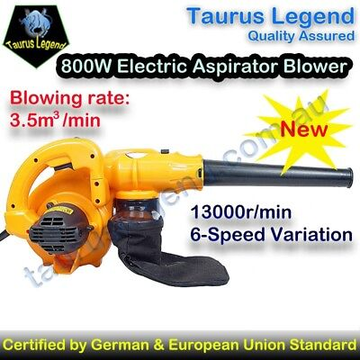 800W Electric Garden Leaf Blower Vacuum 6 Variable Speed European Union Standard
