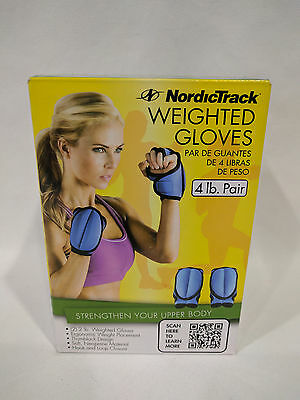 Two Weighted Gloves Fitness Neoprene Run Sport Arms Workout Soft 4-Lb Exercise