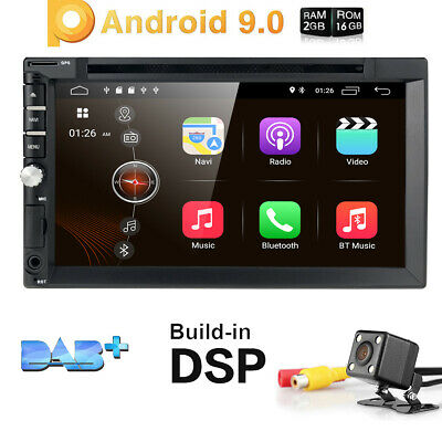 "7"" HD 2 Din Android Quad Core Car Stereo GPS MP5 Player Radio 3G Wifi +Camera FM"