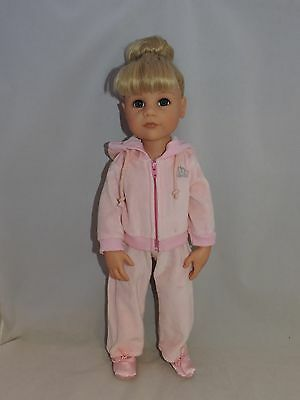 """Pink joggers outfit fits Gotz and other skinny 18"""" dolls"""