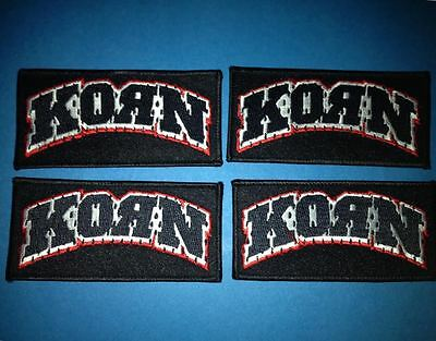 4 Lot Korn Hard Rock Music Iron On Hat Jacket Backpack Hoodie Metal Patches C