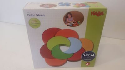 Haba Color Moon Wooden Wood 32 Piece Puzzle Play Set STEM NEW FREE SHIPPING