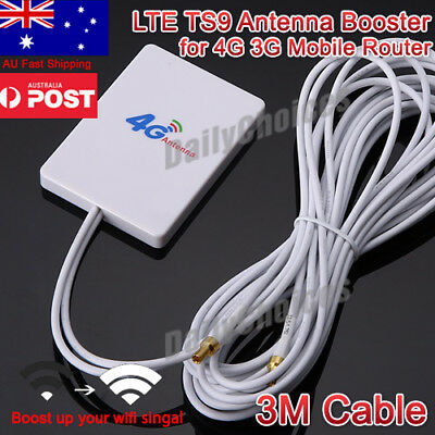 LTE TS9 Antenna Booster Amplifier Signal 28dBi for 4G 3G Mobile Router