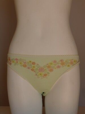 Vintage retro true 70s 10 S unused green flowers panties bikini underwear NOS