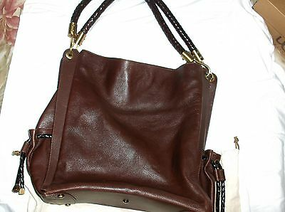 078489a4a4 GUC  1200 MICHAEL KORS Skorpios Leather Shoulder bag purse Braided Handle  Brown