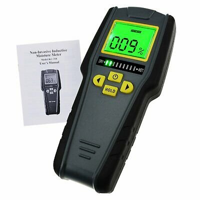 Digital Non-Destructive Inductive Moisture Meter 4 modes 0~40°C LED w/ Alarm