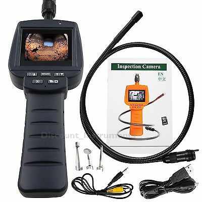 HD LCD Inspection 9mm Camera Endoscope Borescope w/ Photo and Video Recording