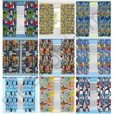 Disney Character Boys Curtains Bedroom Marvel Paw Patrol Pokemon Thomas More