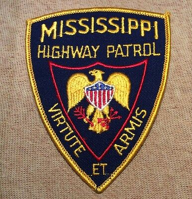 MS Mississippi Highway Patrol Patch (Yellow Border)