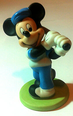 90's Mickey Mouse Playing Golf Figures Walt Disney World Porcelain