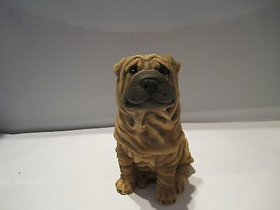 Shar Pei pup dog figure Castagna hand made and hand painted in Italy new