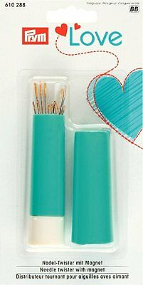 PRYM Love Magnetic Needle Twister & 19 Assorted Gold Eye Needles 610 288