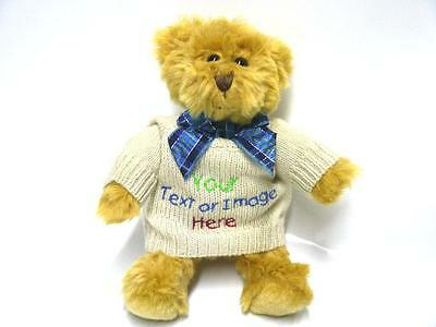 Personalised Teddy Bear Mumbles Embroidered Gift Valentines Day