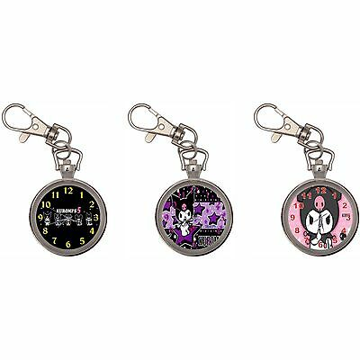 Kuromi Silver Key Ring Chain Pocket Watch