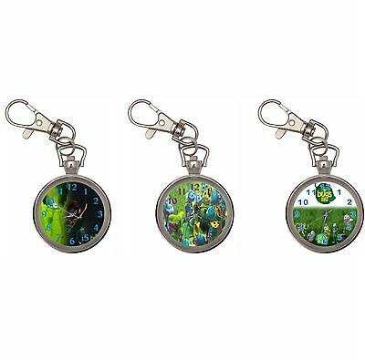 Bug's Life Silver Key Ring Chain Pocket Watch
