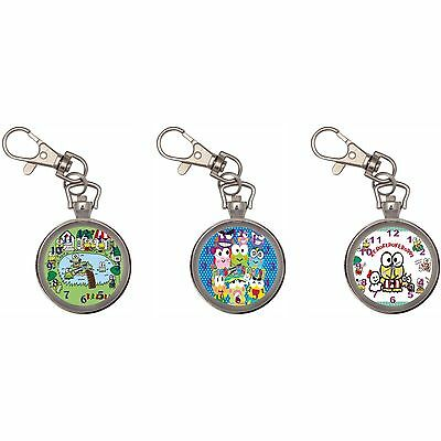 Keroppi Silver Key Ring Chain Pocket Watch