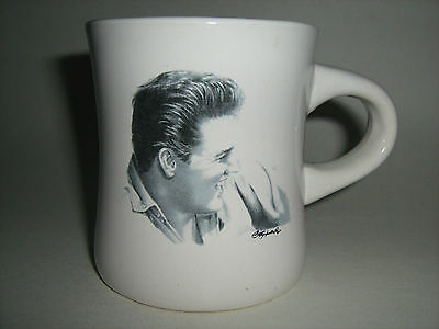 Elvis Presley Portrait Caricature Signature Coffee Mug - Art By Betty Harper