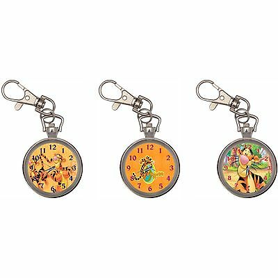 Tigger Silver Key Ring Chain Pocket Watch
