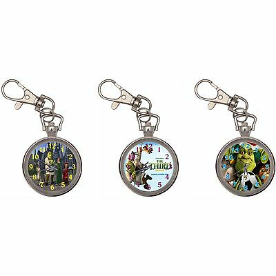Shrek Silver Key Ring Chain Pocket Watch
