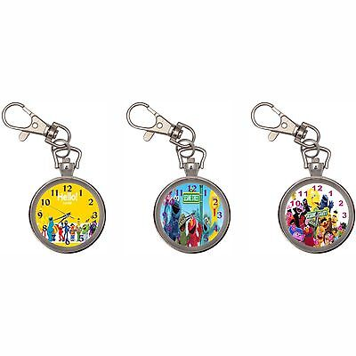 Sesame Street Silver Key Ring Chain Pocket Watch