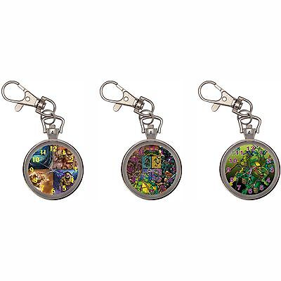 Tmnt Turtles Silver Key Ring Chain Pocket Watch
