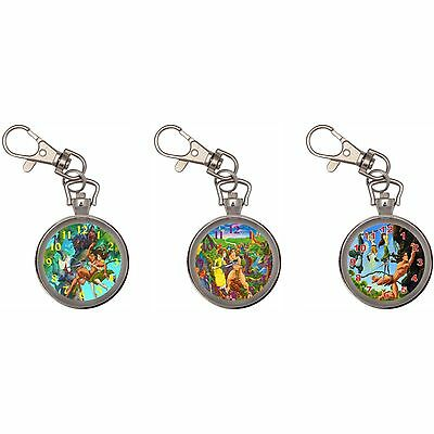 Tarzan Silver Key Ring Chain Pocket Watch