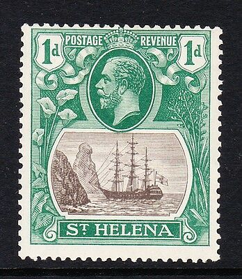 ST HELENA 1922-37 1d GREY & GREEN WITH BROKEN MAINMAST SG 98a MINT.