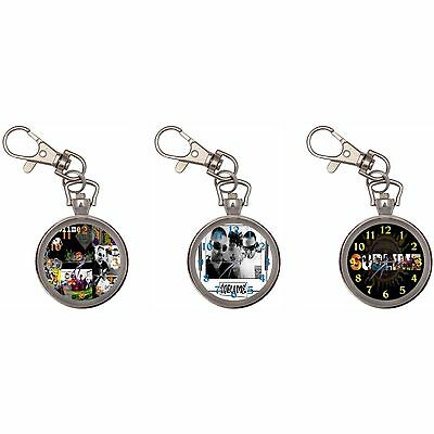 Sublime Silver Key Ring Chain Pocket Watch